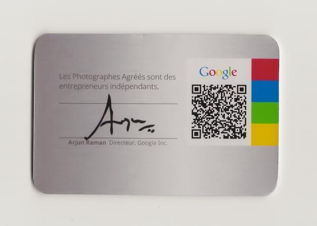 My Google ID BACK